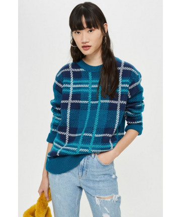 Sweter Oversized Check...